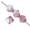 Glass Bead Lanterns 6mm Amethyst Half Coat Aurora Borealis